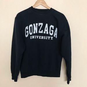 Jansport Gonzaga navy blue crewneck sweatshirt